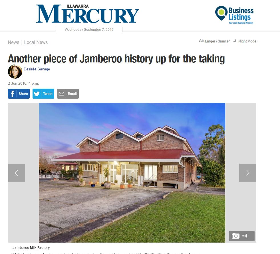 Another great feature article in the Illawarra Mercury